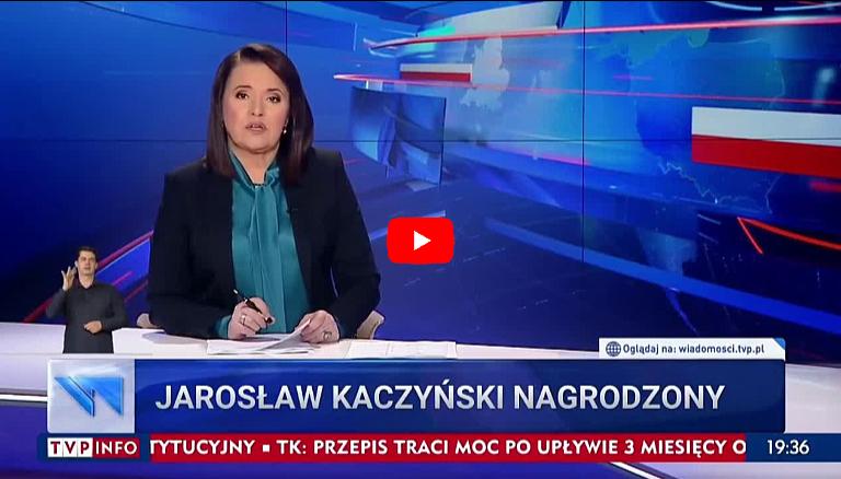 """TVPiS: Jarosław Kaczyński otrzymał nagrodę od """"niezależnych"""" mediów"""